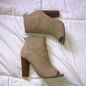 Open toe booties